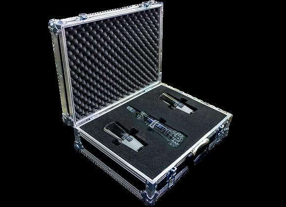 GT-Case Funkoffer Spirituosenkoffer für Puschkin + 2 Gläser