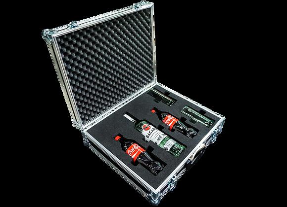 GT-Case Funkoffer Spirituosenkoffer für Bacardi + 2 Gläser + 2 Cola