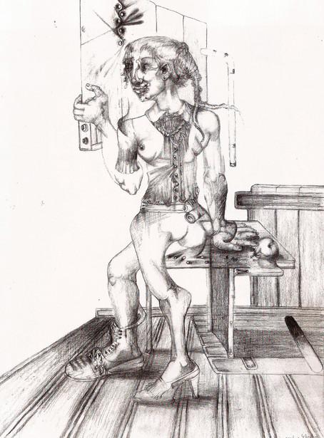 Mujer estudio. 2000