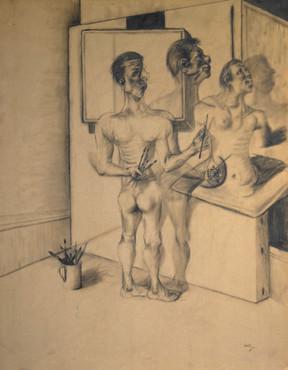 Pintor en su estudio. 1996