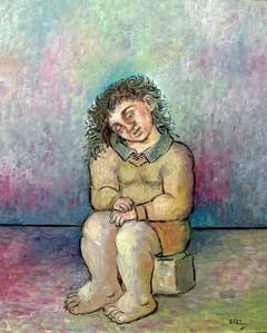 Niña sentada. 1994