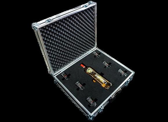 GT-Case Funkoffer Spirituosenkoffer für Berentzen + 6 Gläser