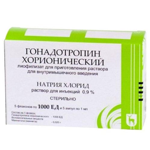 Гонадотропин хорионический 1000 МЕ (1 флакон) от Московский эндокринный завод