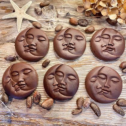5月12日新月に作る「月と太陽のローチョコレート」カカオ87%  1枚