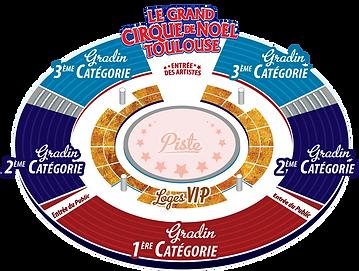 Chapiteau Cirque de Noel de Toulouse