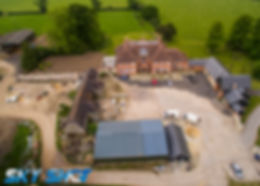 construction site progree by drone