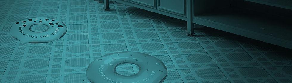 Social Distancing floor-graphics
