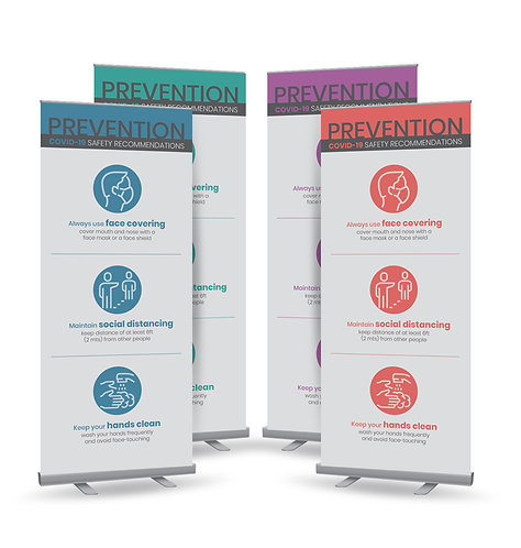 Roll Up banner (gray background)