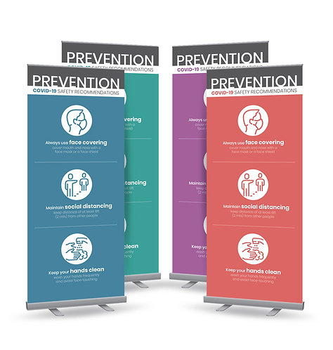 Roll Up banner (color background)