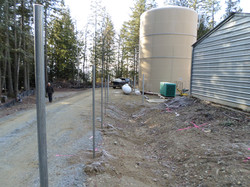 Water Sotrage Tank & Fence construct