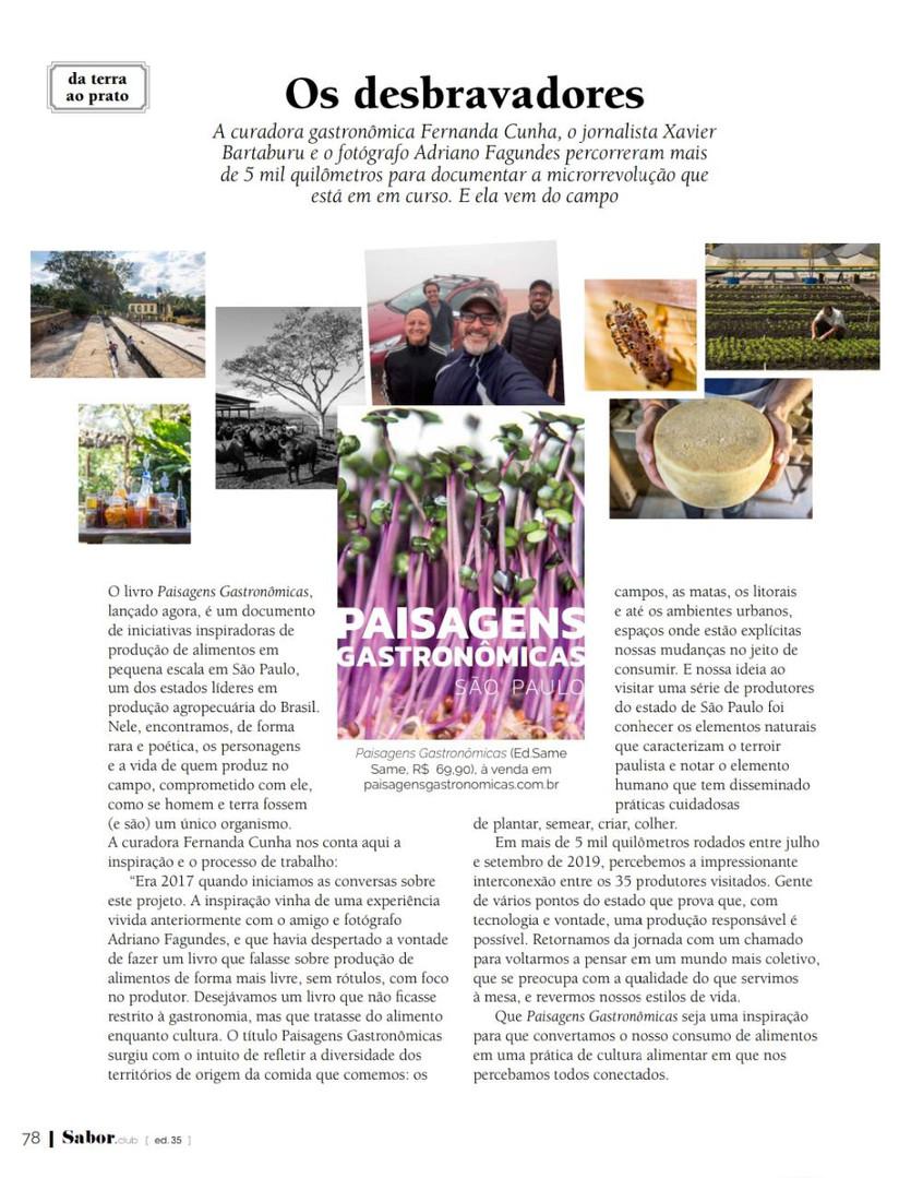 revista Sabor - ed. 35 - NOV/2019