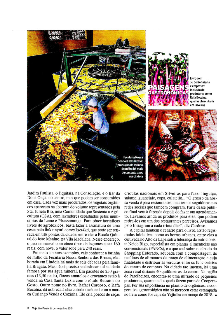 revista Veja São Paulo - ed. 48 - NOV/2019