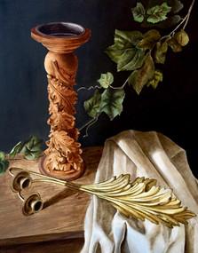 "Still Life, acrylic on canvas, 24""w x 36""h"