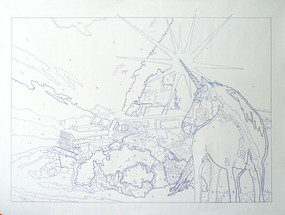 """Ink Drawing, 60""""w x 48"""" h, 2012"""