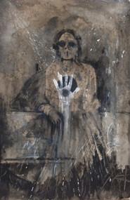 "Acrylic, Oil Pastel on canvas, 40""w x 80""h"