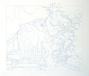 """Ink Drawing, 36""""w x 36"""" h, 2012"""