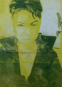 "Acrylic, Ink on canvas, 36""w x 48""h"
