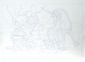 """Ink Drawing, 48""""w x 36"""" h, 2012"""