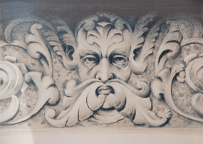 Study of stone relief, Graphite on paper