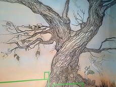 Detail of mural for Joe McNally