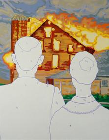 Acrylic, Marker on canvas