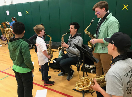 BHS students recruiting future musicians