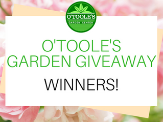 2018 OToole's Garden Giveaway Contest Winners