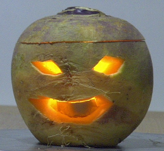 Traditional Turnip Jack O'Lantern