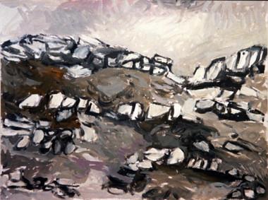 4 - North - Acryl sur papier 65x50 2003.