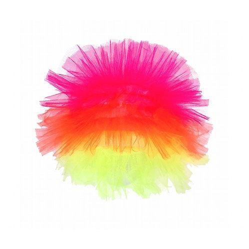 peluca tricolor
