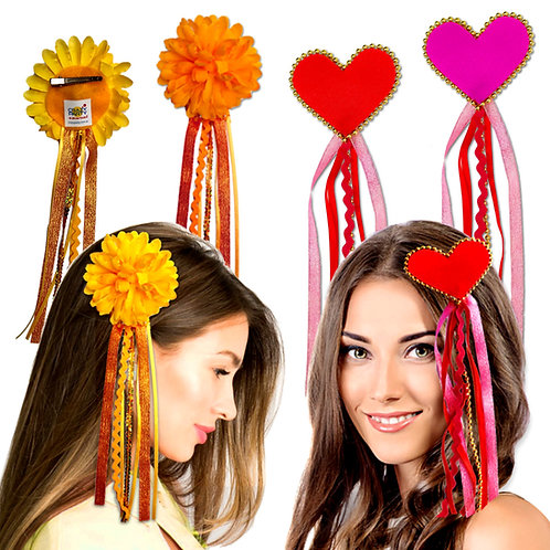 pack / broches cabello boho-chic x 6