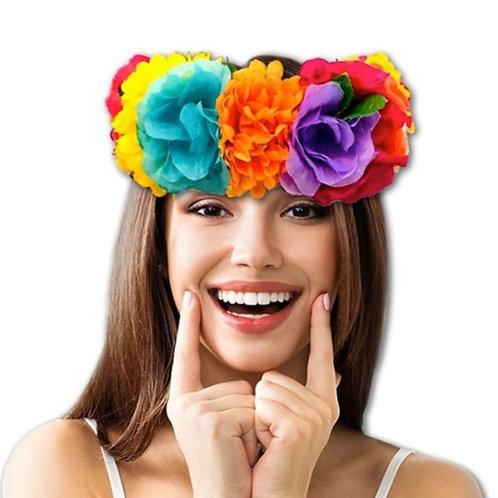 tiara corona especial flores colores