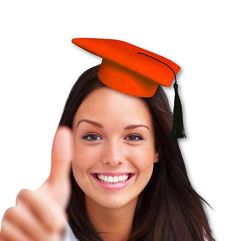 graduado mini sombrero