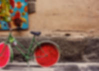 watermeloen fiets