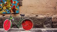 sandía de bicicletas
