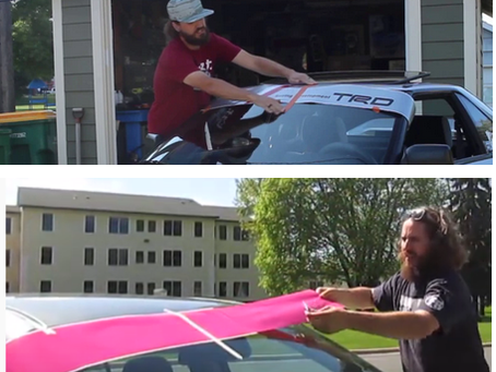 Tips for Applying Windshield Banners
