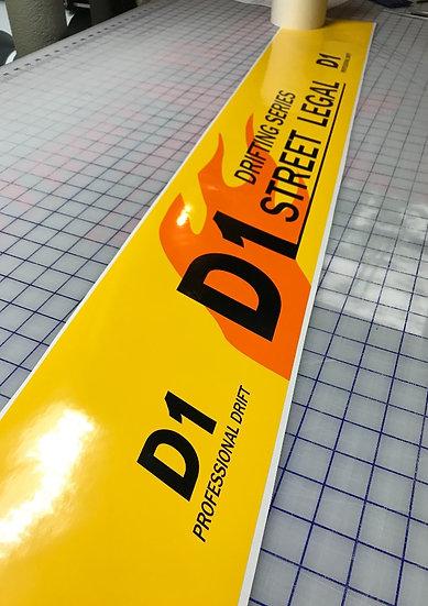 D1GP Windshield Banner