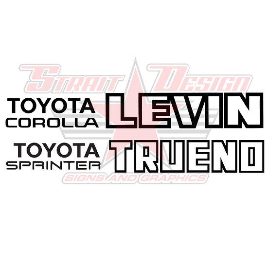 TRUENO / LEVIN REAR DECALS