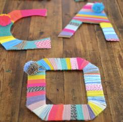 Yarn Wrapped Cardboard
