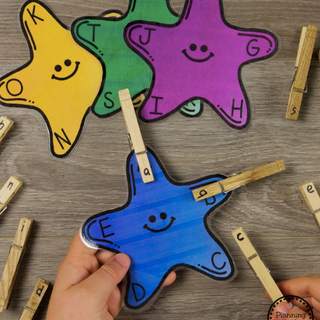 Star Fish Letter Matching