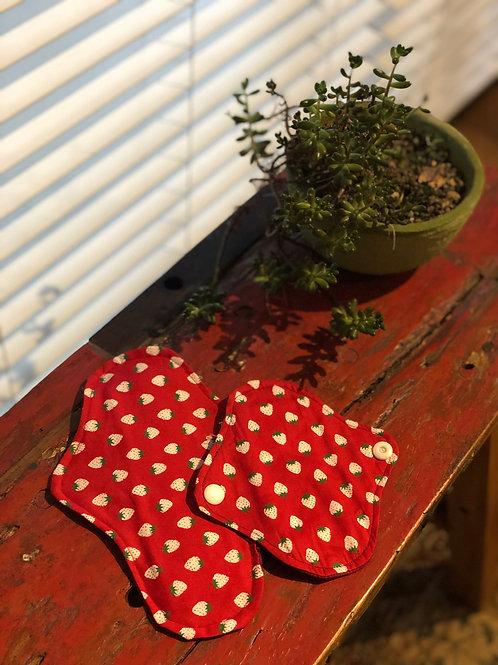 【天然素材100%】布ナプキン2枚セット30cm/15cm(多い日用/普通の日用)