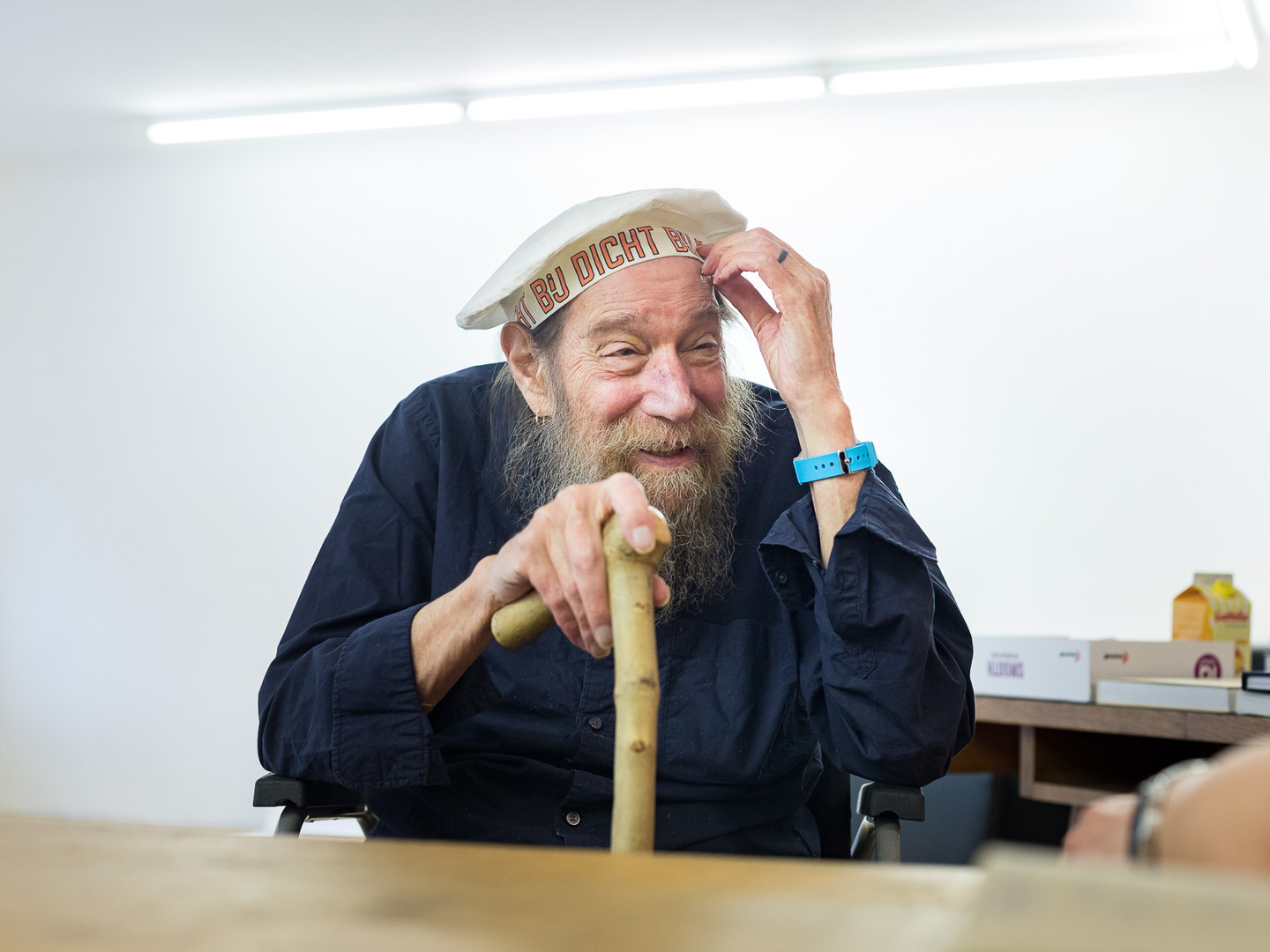 Lawrence Weiner at the interview.-009__V8A3