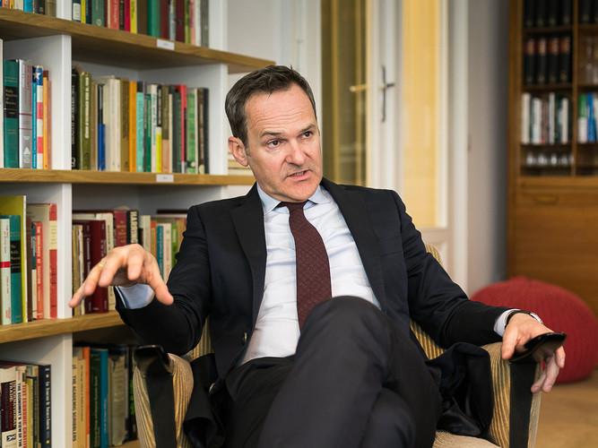 Interviewsituation mit Gerhard Hofer