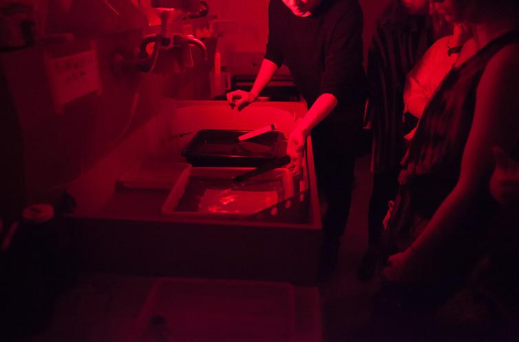 in the darkroom