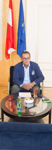 At Strache's office.