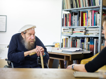 Lawrence Weiner at the interview.-011__V8A3
