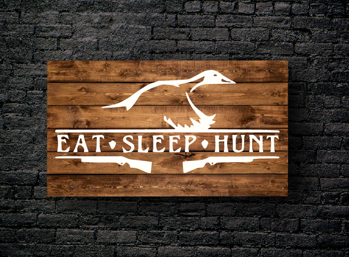 62. EAT SLEEP HUNT DUCK