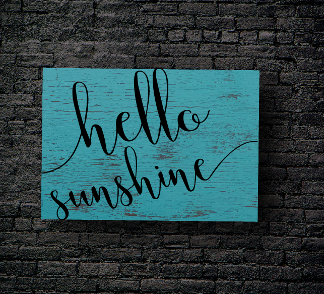 52. HELLO SUNSHINE