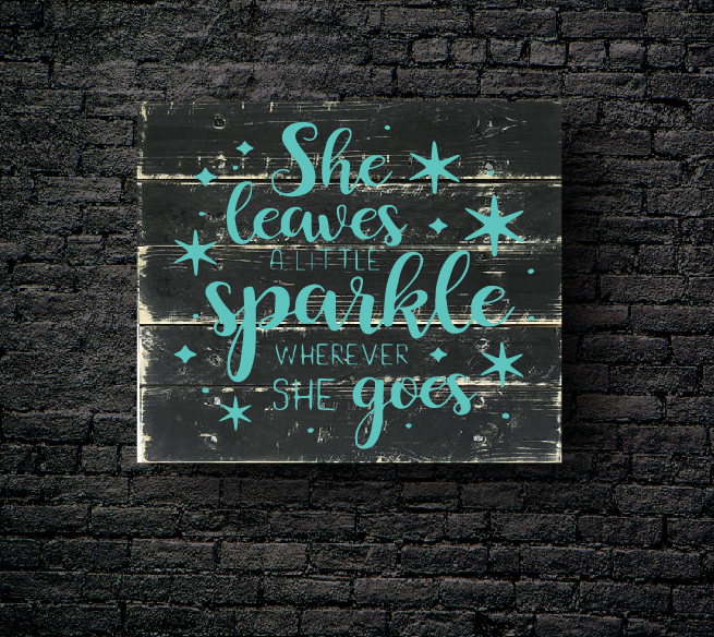 30. SHE LEAVES SPARKLE