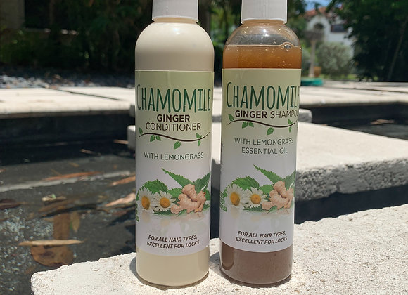 8oz Chamomile Ginger Shampoo & Conditioner
